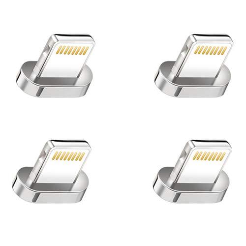 Apple Iphone Magnet ([i!®] 4X Adapter für Premium Nylon Magnet USB Ladekabel Datenkabel [4X Stecker] kompatibel mit Apple iPhone XS Max/XR/10/X/8Plus/7Plus/6SPlus/6Plus/5/SE iPad iPod)