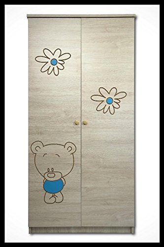 5 PCS BABY NURSERY FURNITURE SET - COT + MATTRESS + WARDROBE + CHEST OF DRAWERS + TOY BOX (model 3)  Included: cot + mattress + wardrobe + chest of drawers + toy box Material: wood GREAT QUALITY 3