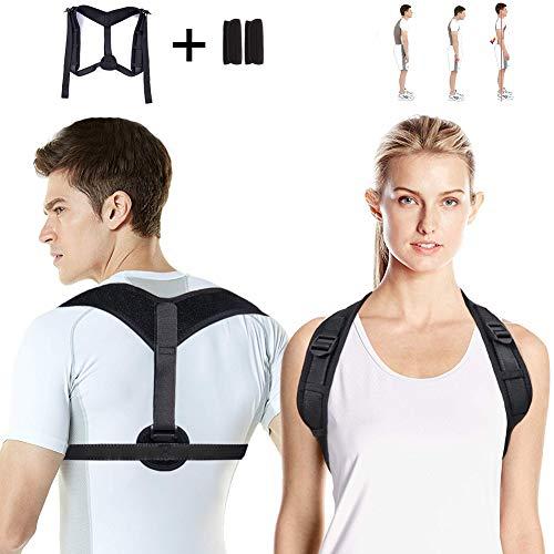 Lukasa Haltungskorrektur, Geradehalter zur Haltungskorrektur Schulter Gürtel, Verstellbar Atmungsaktiv Schultergurt Rückenbandage Haltungstrainer für Damen und Herren