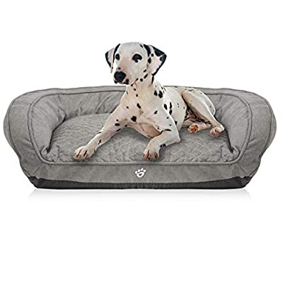 FRISTONE Dog Beds & Sofa Washable, Pet Detachable Bed Soft Breathable Washable Dog Basket Suits for Daily Sleeping from FRISTONE