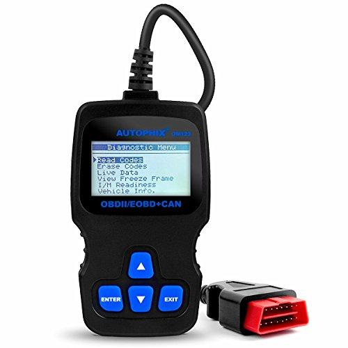 Preisvergleich Produktbild Autophix OM123 OBDII Diagnosegerät Auto Fehlerspeicher Auslesen OBD2 Code Scanner (Schwarz)