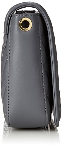 e883c7c21 Love Moschino Borsa Quilted Nappa Pu Grigio, Women's Shoulder Bag, Grey,  6x19x28