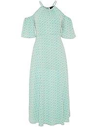 HALLHUBER Cold-Shoulder-Kleid im Midi-Cut schwingende Form