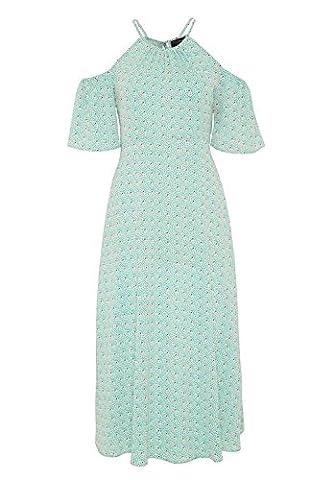 HALLHUBER Cold-Shoulder-Kleid im Midi-Cut schwingende Form multicolor, 38
