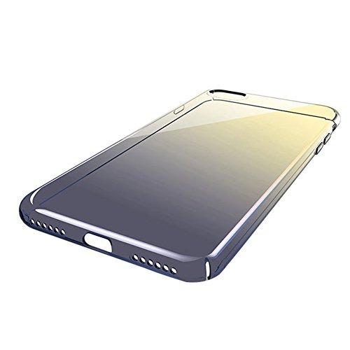 Custodia iPhone 7, iPhone 7 Cover Trasparente, SainCat Custodia in Hard Plastic Protettiva Cover per iPhone 7, 360 Gradi Full Body 3D Design Custodia in Ultra Slim Transparent Case Ultra Sottile Custo Nero