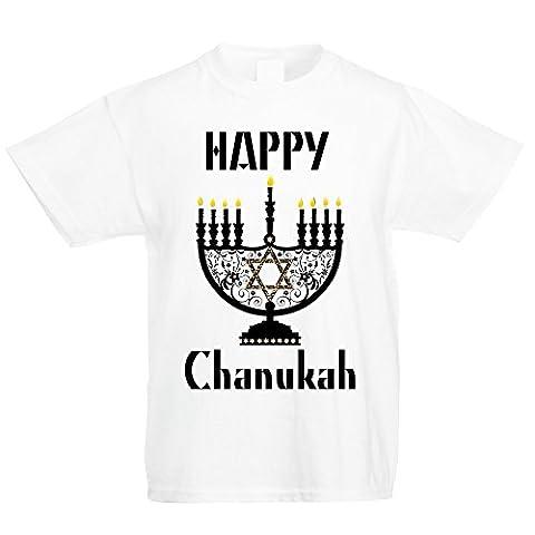 CHANUKAH GIFT HAPPY HANUKKAH TOP (6-7 Years)
