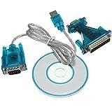 RoboMall USB 2.0 zu RS232 9/25 Pin COM-Port Serieller Adapter Kabel PC Laptop