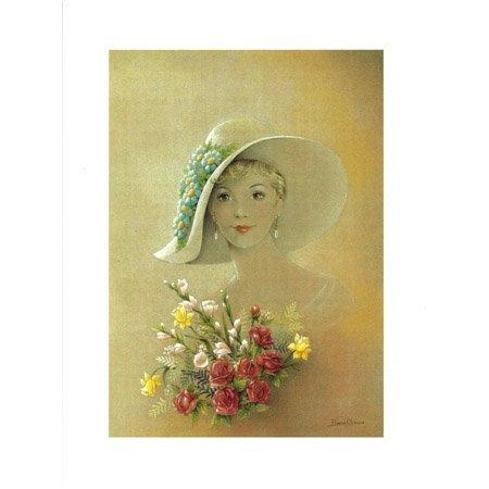 Image 3D - Femme au bouquet