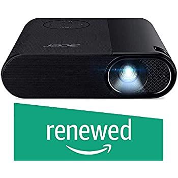 (Renewed) Acer C200 LED Projector - 200 Lumens - Native Resolution FWVGA 854 x 480 - 6700 mAh Battery - 30000 Hrs Lamp Life