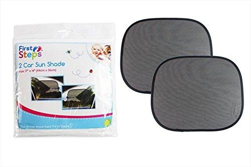 Pare-soleil de voiture Lot de 2 protège les enfants Bloque les rayons UV First Steps pour enfant Kid