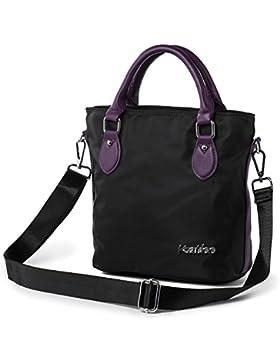 9e1b9f1882de2 Katloo Elegant Nylon Damen Handtasche Umhängetasche Taschen Shopper Mädchen  Kleine Reisetasche mit Henkel