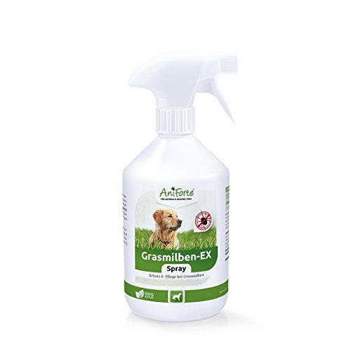 AniForte Grasmilben-EX Spray 500 ml Naturprodukt für Hunde - Schutz und Abwehr bei Grasmilben, Reinigung & Pflege betroffener Hautstellen, beruhigt zusätzlich gereizte Haut, Linderung Juckreiz