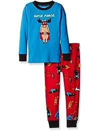 Hatley Long Sleeve Appliqué Pyjama Set, Conjuntos de Pijama para Niños