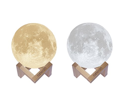 Hummingbird Mount (Mspark 3D Printing Moon Lamp Charging Luna Night Light With Wooden Mount by Mspark)