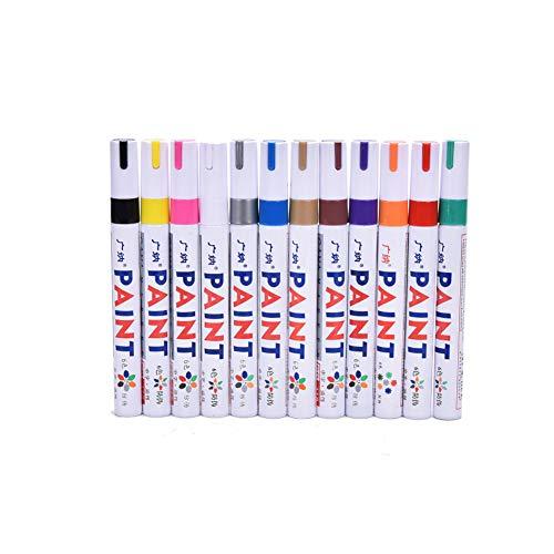 JJ.Accessory JJ.Accessory Marker Pens, Permanent Paint Graffiti Pen für Auto Motorrad Reifen, Kartenherstellung, DIY Fotoalbum, Felsmalerei