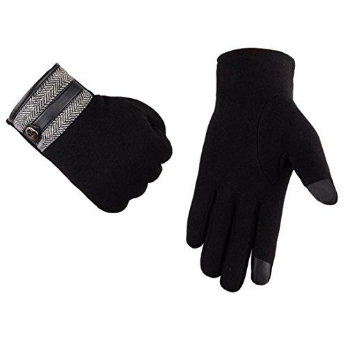Saingace® Gants Hommes,hommes thermiques automne hiver gants écran tactile moto neige de ski de snowboard chaudes Noir