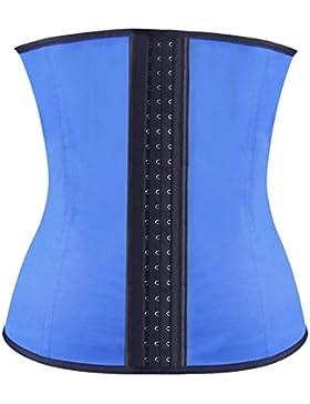 Binhee Mujer Waist Cincher Corsé Fajas Cinturón Firme De Formación Para Cincher Underbust Azul Medium