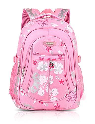 EKUIZAI Mädchen Jungen Mädchen Rucksack Schulrucksack Ranzen Kinder Schulranzen Schultasche (Rosa)