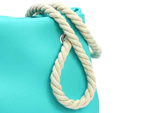Handtasche Türkis - Blau - 5