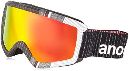 Burton Guanti da uomo per Snow board occhiali Helix 2.0W/Spare, Uomo, Snowboardbrille HELIX 2.0 W/SPARE, Stryper/Red Solex