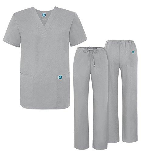 Unisex-Schrubb-Set - Medizinische Uniform mit Oberteil und Hose 701 Color SLV | Talla: M