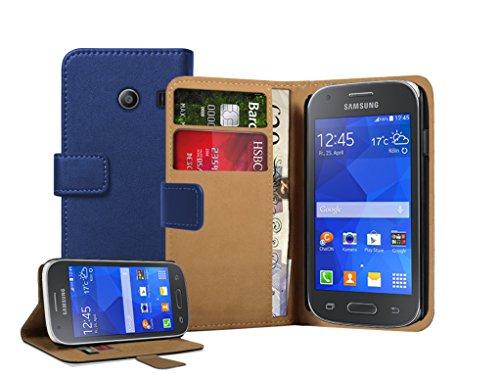 Membrane - Blau Brieftasche Klapptasche Hülle Samsung Galaxy Ace Style (SM-G310) - Wallet Flip Case Cover Schutzhülle