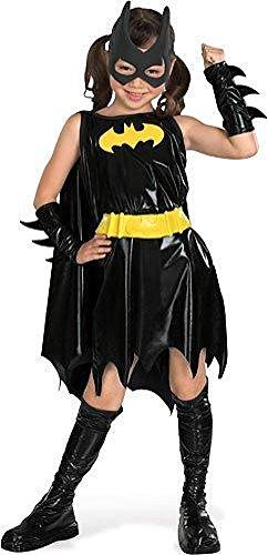 Rubie's Batgirl-Kostüm für Mädchen Karneval schwarz-gelb 128 (7-8 ()