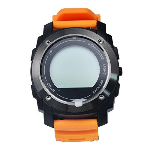 da polso telefono / orologio intelligente donna - fitness tracker heart rate monitor wrist watch tool monitoraggio del sonno & supporta piattaforma android ios - [ arancia ] w928