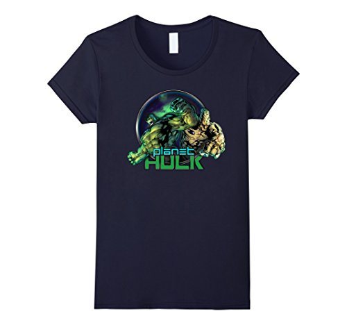 Womens Marvel Planet Hulk & Korgon The Dynamic Duo Graphic T-Shirt XL Navy (Orca-duo)