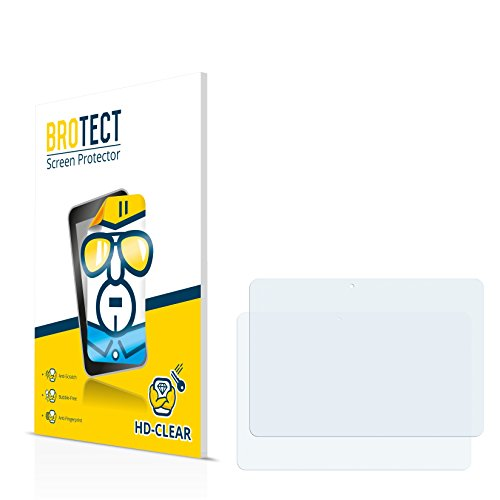 BROTECT für Hannspree HannsPad SN1AT71 Schutzfolie [2er Pack] - klare Displayschutzfolie, Crystal-Clear
