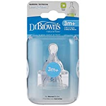 "Dr Brown'S Level-2 Silicone Narrow-Neck""Options"" Nipple, 2-Pack - 322-Intl"