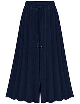 YiLianDa Donna Taglie Forti Pantaloni Harem Donna Lunghezza Elasticizzato Pantaloni Casual