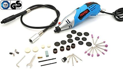 Fixtec Mini amoladora eléctrica Advanced Professional Kit de herramientas rotatorias multifunción con 40 accesorios Velocidad variable para artesanías, 230V 170W