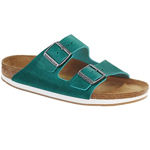 Birkenstock Sandale Arizona Nubukleder schmal Unisex turquoise (057683)
