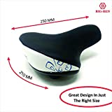 BIG-BEN Bike Saddle Cushion Seat with Shock Absorbing Springs-Universal Fit for Electric Bicycles
