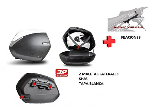 KIT SHAD fijacion + maletas later. tapa blanca SH36