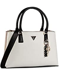 Guess Becca - Bolso de mano, color beige y blanco