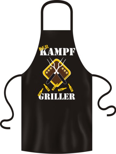 Grillschürze, Bundesland Kampf Griller! Farbe: Schwarz, 100% Baumwolle, Bistroschürze, Kochschürze - by Soreso Design®