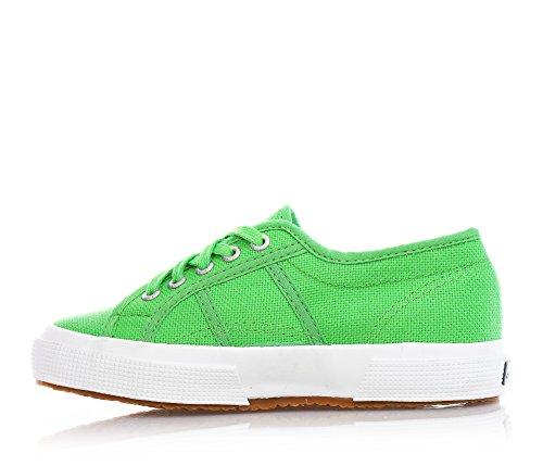 Superga 2750-Jcot Classic Scarpe da Ginnastica, Unisex Bambini Verde (Bright Green)
