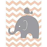 XWArtpic Süße Elefanten Familie Kinderzimmer Dekor Liebe Cartoon Leinwand Gemälde Nordic Wandkunst Bilder Poster und Druck für Kinderzimmer Dekor 60 * 100 cm