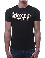 BOXEUR DES RUES T-Shirt Uomo, Nero-Oro, M