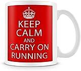 Keep Calm and Carry On Running Mug / Cup