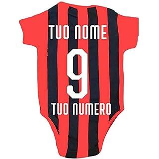 Ac Mailand Body Red Black Offizielle Anpassbare Name und Nummer PS 12685 (9 Monate)