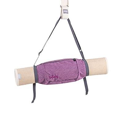 """bodhi Yogatasche """"Roll'n'Go"""", kleine Yogamatten-Tasche für Minimalisten, mit Fach für Kleinteile, leicht und tragbar wie ein Tragegurt"""