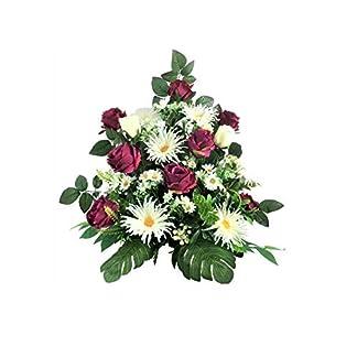 LBA Centro de Flores Artificiales para Cementerio. También para Iglesias. Especial Día de Todos los Santos. Medidas: 60x50x40 cms. Aprox.