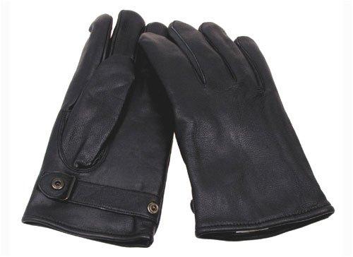 Bundeswehr Lederhandschuhe, gefüttert, schwarz, Größe S