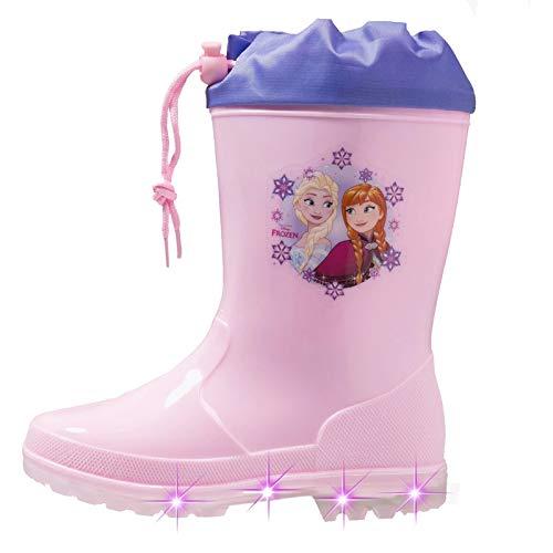Disney stivali pioggia frozen con luci a led bambino 24 25 26 27 28 29 inverno 2018 (25)