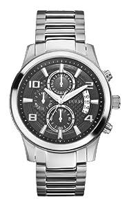 Guess Guess - Reloj de cuarzo para hombre, correa de acero inoxidable color plateado de Guess