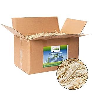 Jumbogras® Rindenmulch-Alternative: Garten-Mulch aus Miscanthus/Chinagras/Elefantengras-Häcksel für Pflegeleichte Gärten/Gartengestaltung/Gartenpflege (170 l x 2-STK-Vorratspackungen)