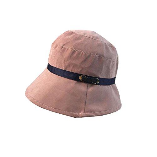 YXINY Sonnenhüte Kappe  Frühlings- Und Sommer-Eimer-Hüte Der Frauen Fischerhut  Außen Trip Sonnenhut  Faltbar  Basin Hut Damen Accessoires Hüte & Mützen (Farbe : Skin pink)